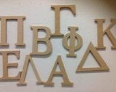 Greek Letters unfinished sorority big little