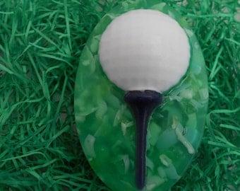 Golf Ball Soap on Tee
