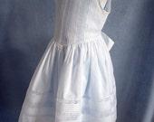 Heirloom Tucks and Lace Dress