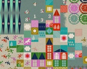 SALE - Cotton + Steel - Playful by Melody Miller - CANVAS Playroom in Aqua