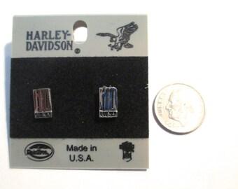 Vintage Harley-Davidson Earrings Jewelry - HD USA Pierced Earrings