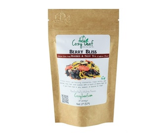 Berry Bliss Organic Artisan Loose Leaf Rooibos and Fruit Tea by Cozy Leaf