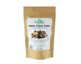 Subtle Citrus Fusion Artisan Organic Loose Leaf Tea by Cozy Leaf