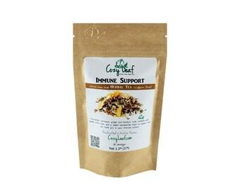 Immune Support Organic Artisan Loose Leaf Tea by Cozy Leaf