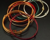 SALE 3 Bangle Bases - Slim Style - Snag-less and Colorful - Jump Rings Included