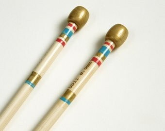 Size 11 Knitting Needles Hand Painted, 8mm Knitting Needles, Single Pointed Knitting Needles, Made of Bamboo