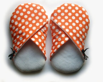 Tangerine womens slippers, house shoes size small - SALE