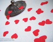 Heart CONFETTI 100 Hand Punched Hearts, Valentine Red, Pinks, Summer Rainbow or Pastel Papers. Eco Friendly Biodegradable. Made in Ireland