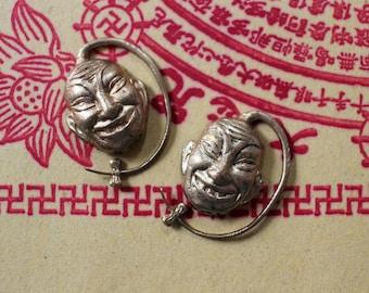 Oxidized Brass Unusual Buddha Findings