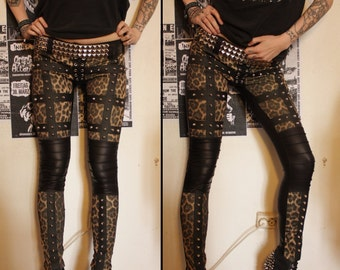 Kissin' Bombs studded leopard pants