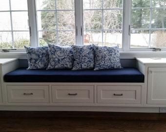Custom Cushion, Custom Window Seat ,  Banquette Seat,  Bench Cushion with Cording ,  Chair Pad, Kitchen Cushion