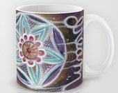 Dream // Coffee Tea Hot Cocoa Mug with Dreamcatcher Art