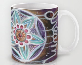 Dream // Coffee Tea Hot Cocoa Mug with Dreamcatcher Art