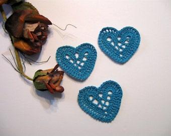 Hearts, Blue Hearts, Supplies, Wedding Decor , Romantic Love, Craft Supplies, Scrap booking Supplies