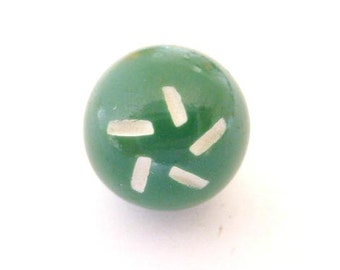 Cut Small Green Bobble Vintage Plastic Button (00334)*Available in Quantity*