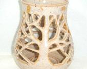 Tree Candle Holder Sun Luminary Tan Sand