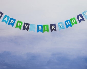 Happy Birthday Banner Bunting Laser Cut Felt 56 inches wide