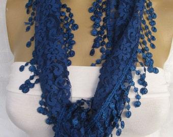 Tulle LACE FRINGED Wedding  Scarf,bride scarf