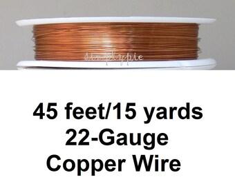 Non-Tarnish Copper Craft Wire 22 - Gauge 45 Feet Spool