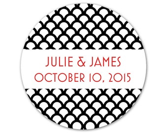 Custom Wedding Stickers - Personalized Custom Art Deco Favor Labels - Favor Stickers - Custom Labels - Choose Your Colors