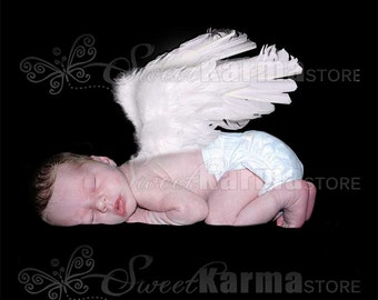 Laying Child Angel Wings Digital Photography Photo Prop FILE #5438