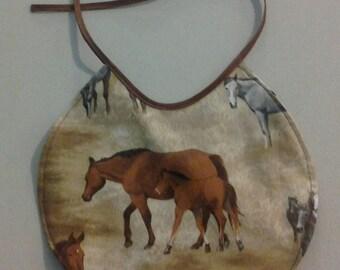 Reversible Infant Bib Horses on the Prairie 243653