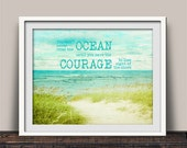 Courage to Lose Sight of the Shore Inspirational Art Print