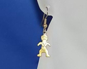 Men's earrings Brass Kokopelli Mens Single Earring, Earrings for Men CLEARANCE!
