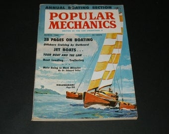 Vintage Popular Mechanics Magazine March 1960 - Scrapbooking, Collectible, Interesting, Cool How-Tos, 1960 New Car Reviews
