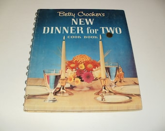 Vintage 1964 Betty Crockers New Dinner for Two CookBook- Recipes and Hints - Cooking, Collectible, Candlelight Dinner Preperation