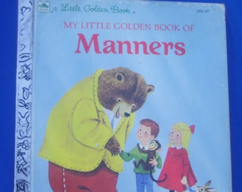 My Little Golden Book of Manners / 1962