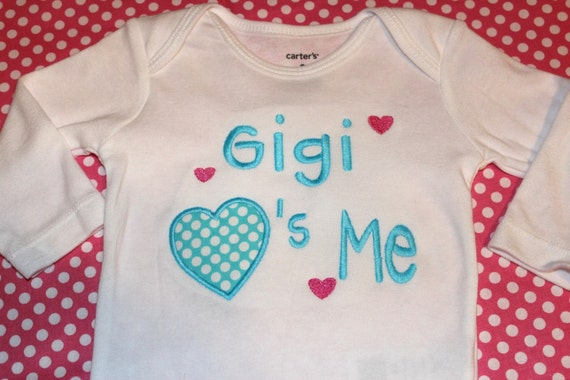 Gigi loves me tshirt or baby shirt- boy or girl- can change to any name