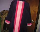 Vintage VANITY Fair Striped  Purple - Pink Short Robe - Size 14