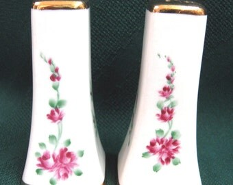 Vintage Floral Salt and Pepper Shakers