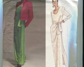Vogue Paris Original 2603 Vintage Yves Saint Laurent Evening Gown & Jacket Pattern UNCUT