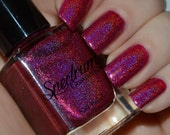 Enchanted Rose Linear Holographic Fuchsia  Nail Polish