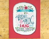 Bushel & A Peck Art Print | Love and Friendship Art Print | Hand Lettered | Red | 8x10 | Made in the USA | AP 029