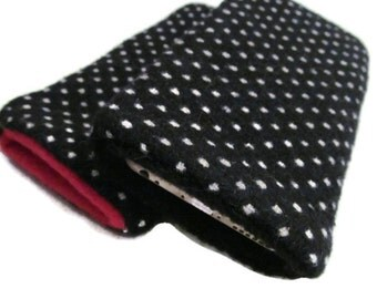 iphone 6 / ipone 6 plus Samsung S5 Wool Cover Case Polka Dot Black