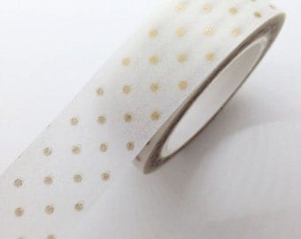 Copper Bronze SMALL Dots Washi Tape Paper Masking Tape - PrettyTape