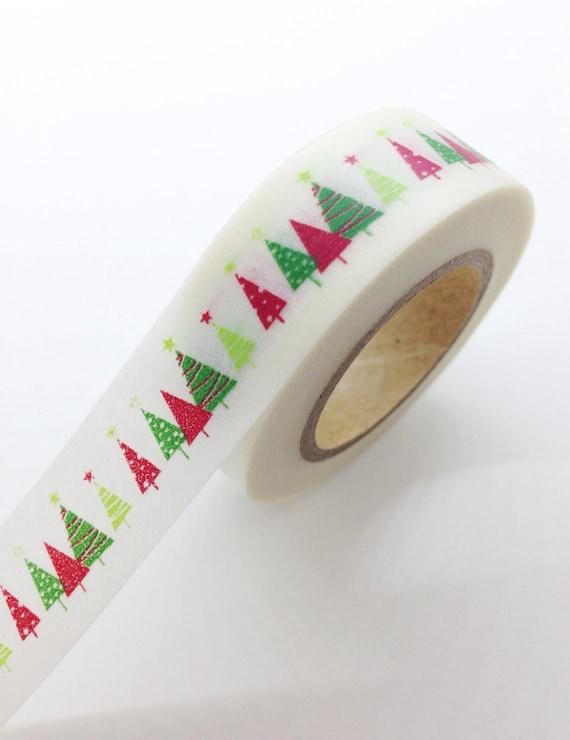 Christmas Washi Tape Christmas holiday washi tape holiday packaging Gift Wrap Tape