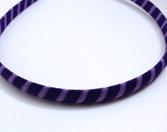 Purple Stripes Headband -Handmade To Order