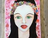 Art collage on canvas
