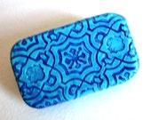 Pill Box Turquoise Moorish Tile Slide Top Tin Pocket Pill Case Handmade Gift Vitamin Holder Travel Pill Box FREE Velvet Gift Pouch