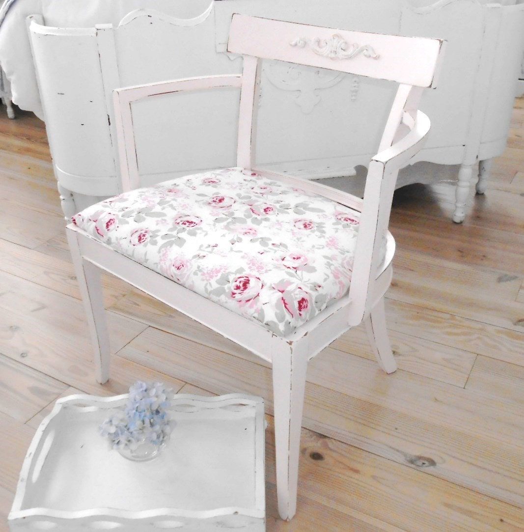 Shabby chic vanity bench chair rachel ashwell by backporchco