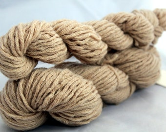 30% off STORE CLOSING SALE Sand Brown Wool Upcycled Yarn, Bulky Yarn - 137 Yards