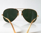 RESERVED FOR Huong Vintage Golden Frame Aviator Sunglasses - Modern Classic Rayban Shades