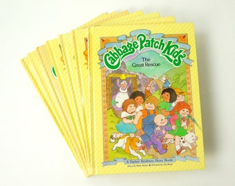 Set of 7 Cabbage Patch Kids Story Books 80s VGC Hc / Vintage Childrens Book