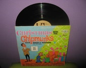 SHOP CLOSING SALE Vinyl Record Album Christmas with the Chipmunks Lp 1962 Children's Holiday Classics