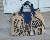 Weekender Overnight Tote Bag made from recycled coffee bean sacks