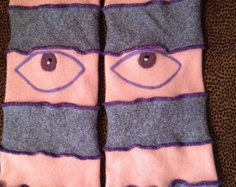 Sale was 40.00 - Harry and The Hippe Chic Ooak Evil Eye Leg Warmers